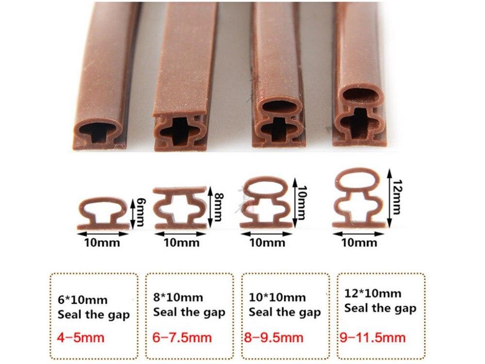 Heimwerker 6 Mt Self Adhesive D Typ Türen Und Für Windows Schaum Dichtstreifen Schallisolierung Kollisionsvermeidung Gummi Dichtung Kollision Dichtleisten 100% QualitäT 10mm
