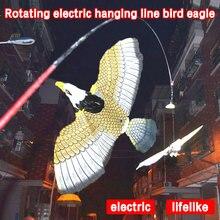 Пластиковый дисплей разных цветов, детская игрушка, Электрический Летающий орел, вращение, свисающий Орел, электрические новые украшения