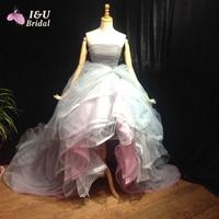 Camouflage Wedding Dresses 2016 Summer Beach Bridal Dress Short Front Long Back Princess Ball Gown Tea