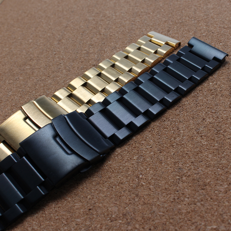 Promotions18mm 20mm 22mm 24mm New watchbands bracelets fashion Women Mens Stainless Steel gold Metal Watch Band