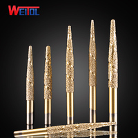Weitol Free Shipping Brazing Stone Engraving Bits Marble Carving Tools CNC Router Bits CNC Router Machine