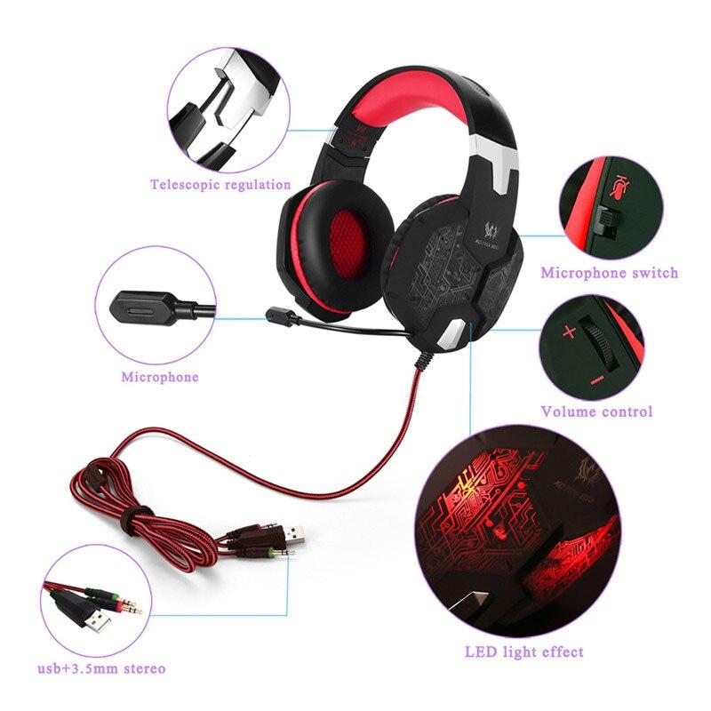 3.5mm Gamer Gaming Headset Gaming Auriculares Auriculares casque de - Audio y video portátil - foto 5
