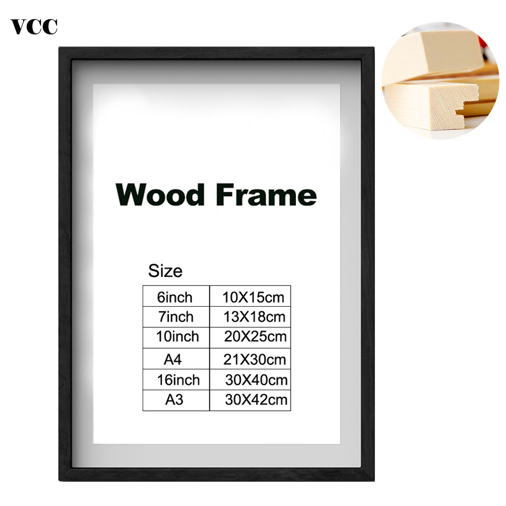 Black Wooden Photo Frame Size A4