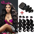 Peruvian Body Wave With Closure Peruvian Virgin Hair ishow 3 4 Bundles Human Hair With Closure Weave Queen Hair Products Tissage