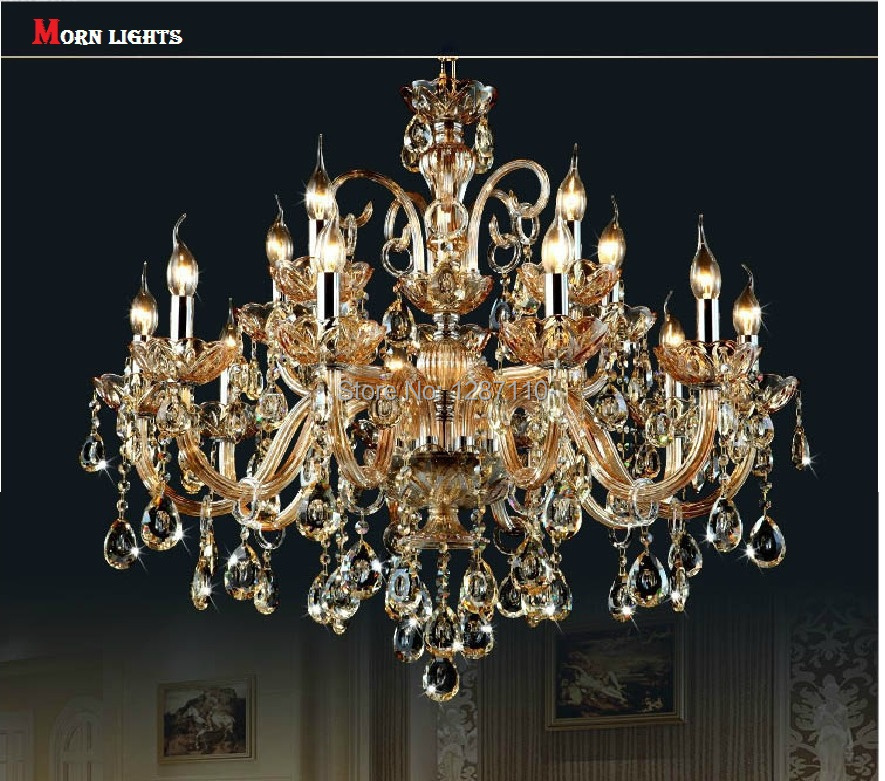 15 arms crystal chandelier lamp light lustres de cristal decoration 15 arms crystal chandelier lamp light lustres de cristal decoration tiffany chandeliers crystal lustre for home and hotel in chandeliers from lights aloadofball Images