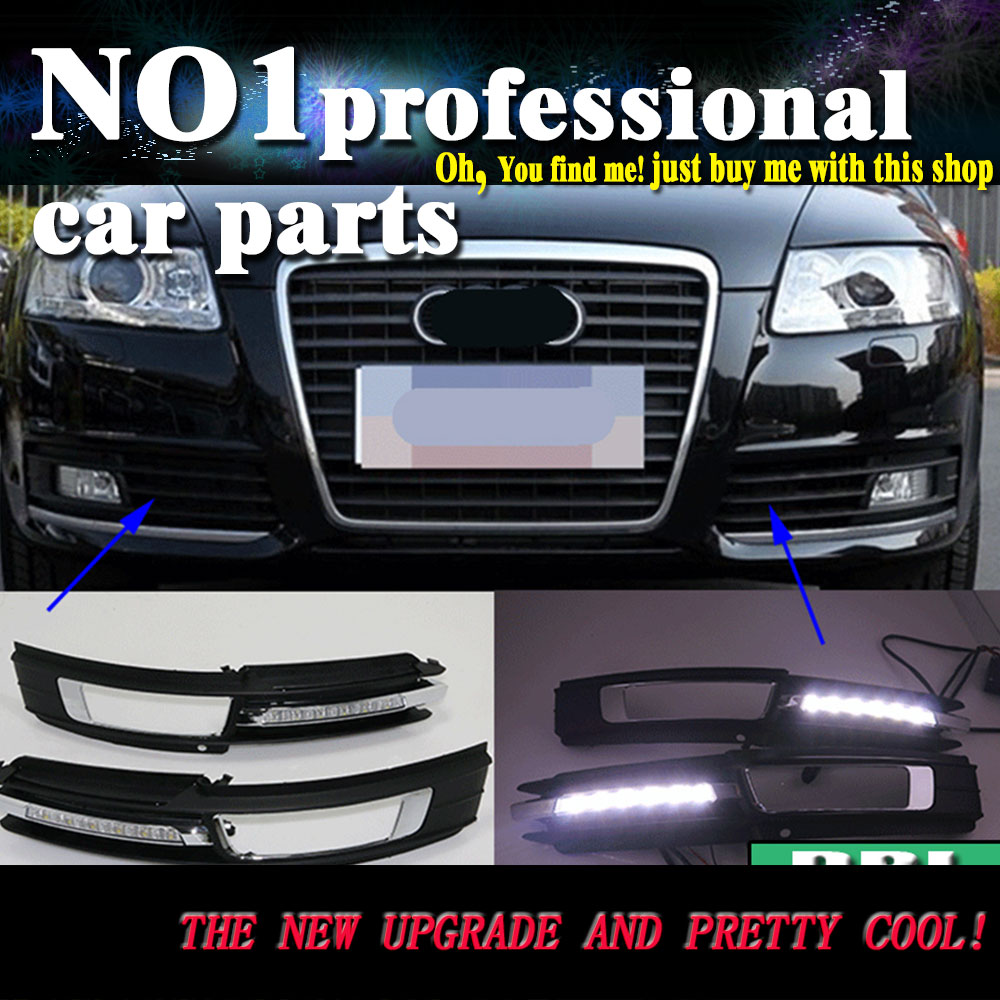 car styling  2009 2010 2011 For Audi A6 C6 A6L LED DRL led fog lamps daytime running light High brightness guide LED DRL 2009 2011 year golf 6 led daytime running light