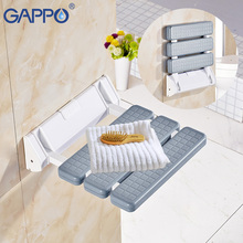 GAPPO Wall Mounted Shower Seat relax chair bath shower chair bathroom folding shower bench toilet chair