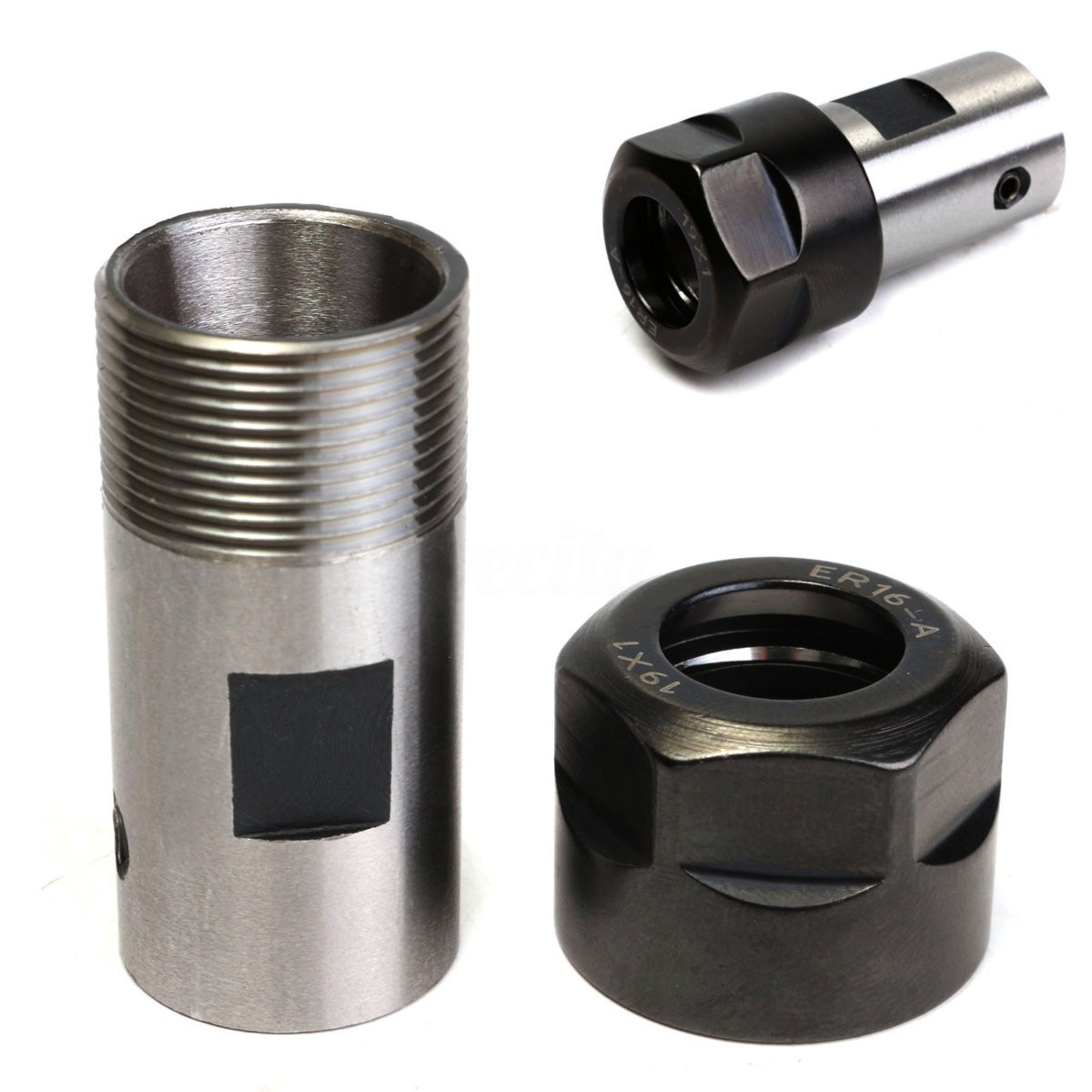 ER16 Collet Chuck Motor Shaft Inner 8mm Spindle Extension Rod for CNC Milling ALI88 er20 collet motor shaft chuck er er11 er16 er25 er32 spindle extension rod tool holder cnc milling drill chuck b10 12 18 jt2 6