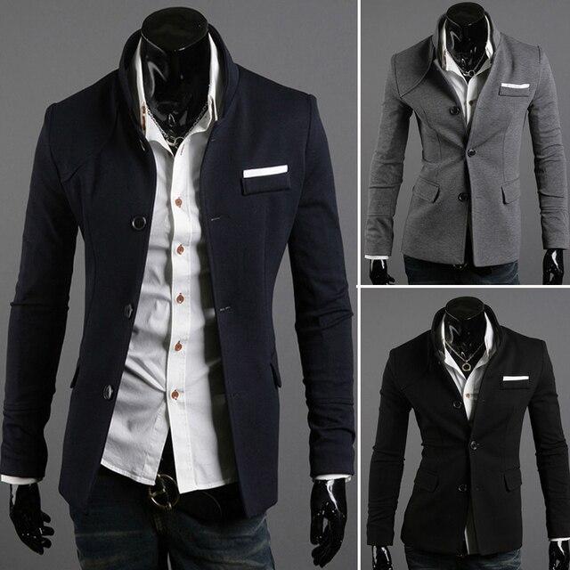 bastante agradable lujo fotos nuevas € 28.11 |2013 spring quality male cloth fabric stand collar blazer  outerwear 8611 en Blazers de La ropa de los hombres en AliExpress.com |  Alibaba ...