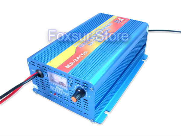 24V 15A Lead Acid Battery charger with charge current indicator, intelligent 4-stage аккумуляторная батарея lead acid battery 6v4ah 20hr