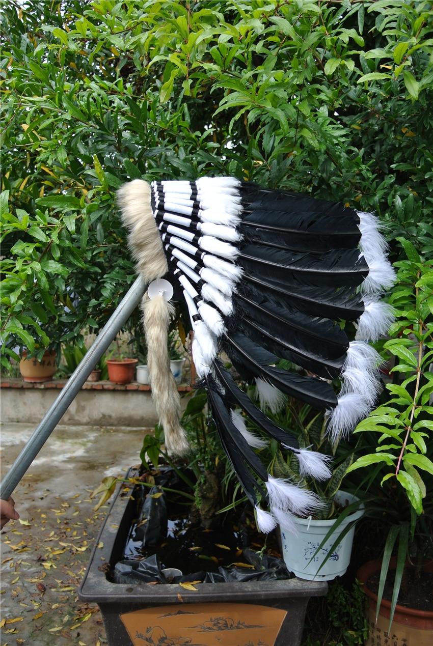 21 дюйм высокое головной убор из перьев головной убор черный костюмы с перьями на Хэллоуин Карнавальный костюм поставки