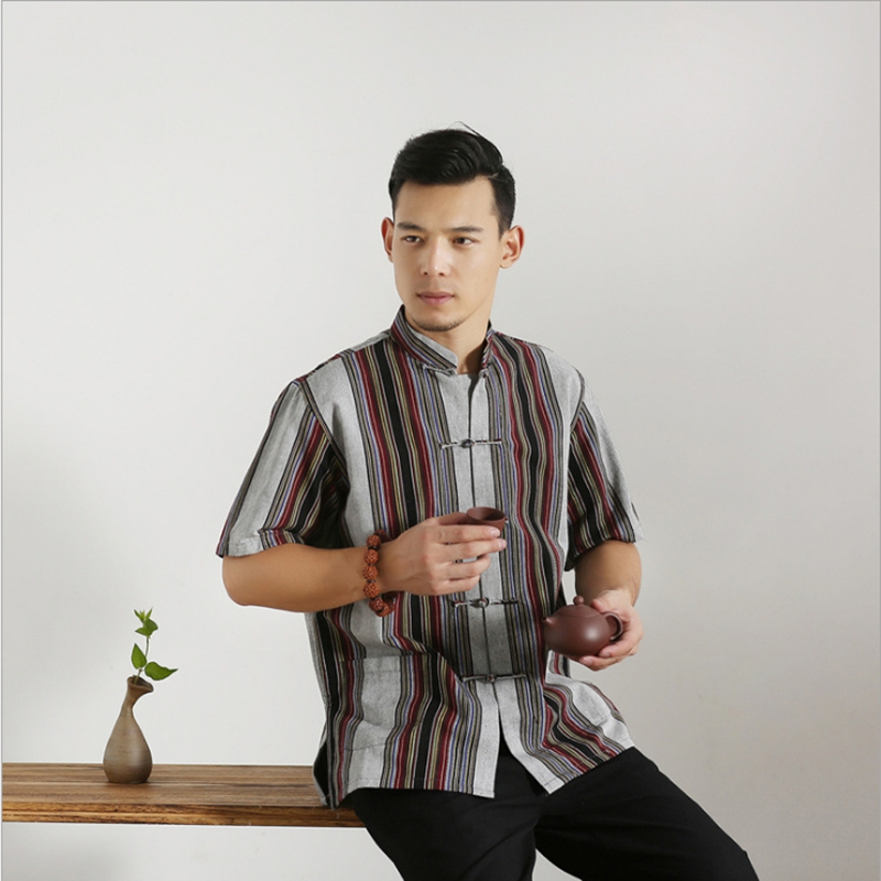 Men New Arrival Shirt Chinese Traditional Style Kung Fu Shirts Fashion Brand Casual Shirt Top S M L XL XXL 3XL