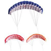 Polyester Fun Dual Line Stunt Parafoil Parachute Rainbow Sports Beach Kite Parafoil Parachute Sports Beach Kite