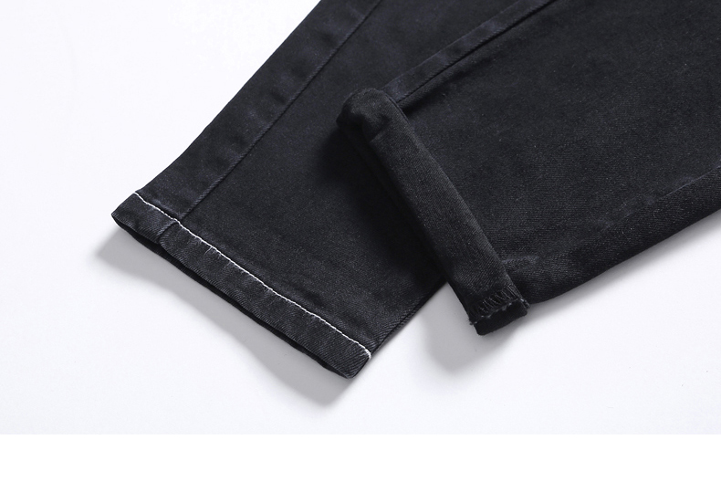 KSTUN Black Jeans Men 2020 Autumn Elastic Waist Drawstring Skinny Slim Fit Casual Pants Male Trousers Streetwear Quality Brand 14