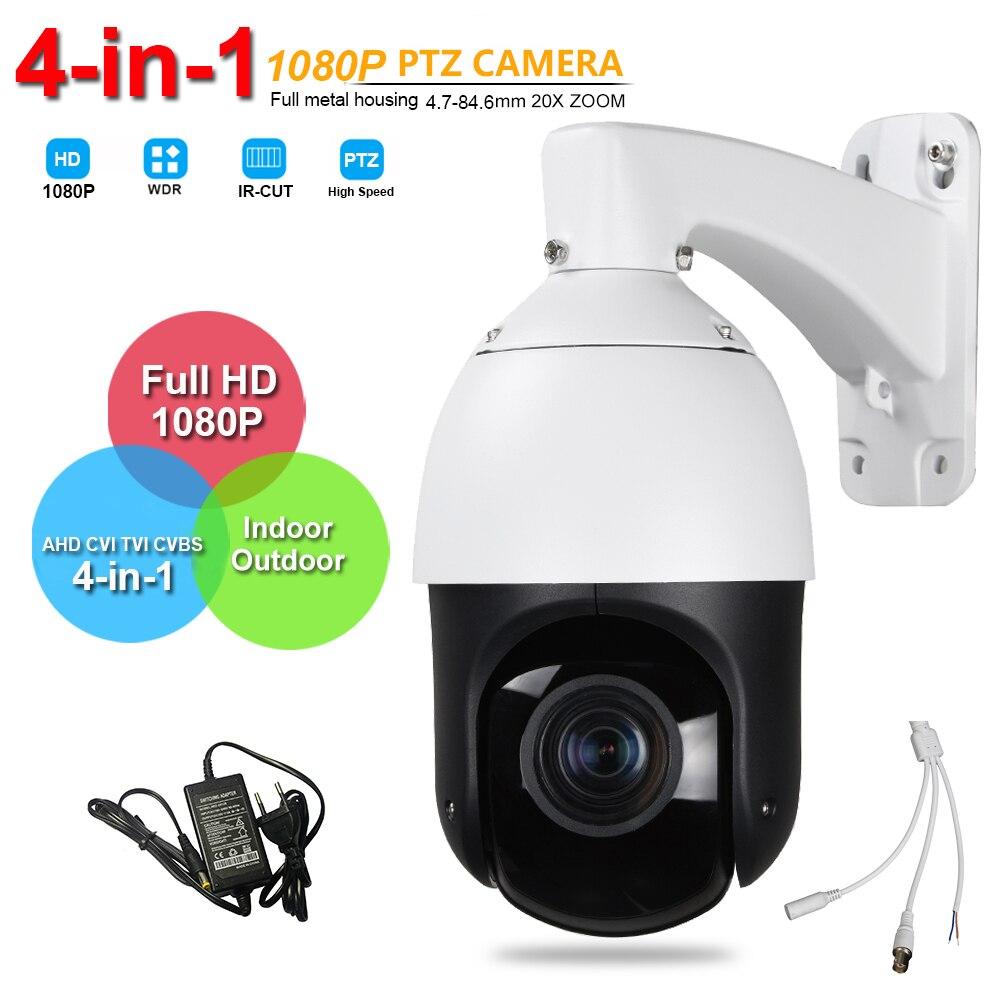 IP66 Sécurité Extérieure FULL HD 1080 P Haute Vitesse PTZ Caméra AHD CVI TVI CVBS 4in1 Surveillance 20X ZOOM AHD Coaxial Contrôle PTZ