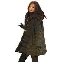 Более Размеры D Пальто для будущих мам с капюшоном Свободная белая утка Подпушка Куртка Утепленная зимняя куртка для женщин; большие размер