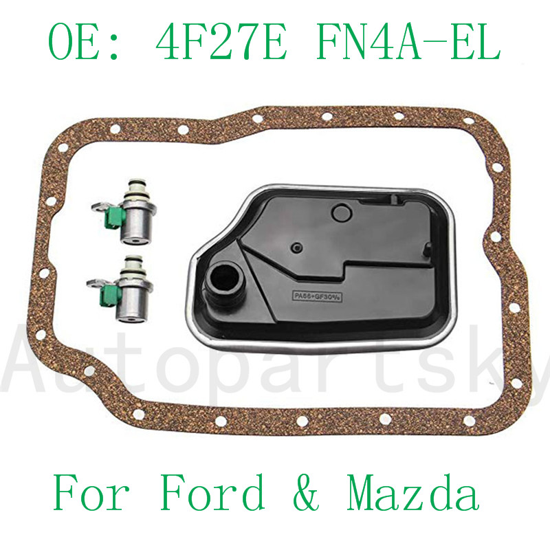 For Ford For Mazda 4F27-E Transmission Shift Solenoid Repair Kit Focus 4F27E FN4A-EL 99+ XS4Z-7H148-AA FN01-21-500 XS4Z-7H148-AA