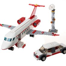 GUDI 334 pcs Airplane Toy Air Bus Model Building Blocks Sets DIY Bricks Classic Boys Toys Compatible With Legoe