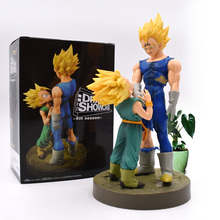 Anime Dragon Ball Z Vegeta Trunks Son And Father PVC Action Figure Doll Collectible Model Toy Christmas Gift For Children [funny] original box 28cm game over watch azrael black death reaper ripper action figure collectible model doll toy kids gift