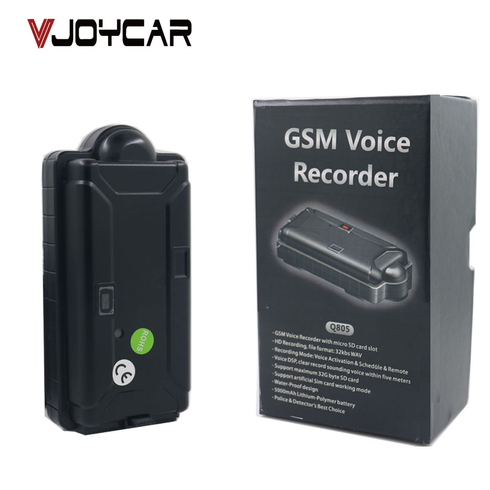 VJOYCAR Q805 5000mAh Long Distance GSM Voice Audio Recorder Bugs With Magnet Long Battery Life Motion Sensor Dismount Alerts