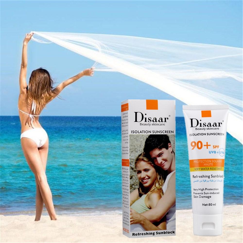 Wholesale 2017 New Korean Isolation Sunscreen 80ml Face Foundation Makeup Skin Whitening Make Up Concealer Moisturizing Cream