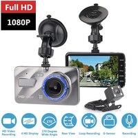 Dash Cam Car dvr Dual Lens Camera Car Video Full HD 1080p 4 IPS Screen 170 Degree Night Vision Camera