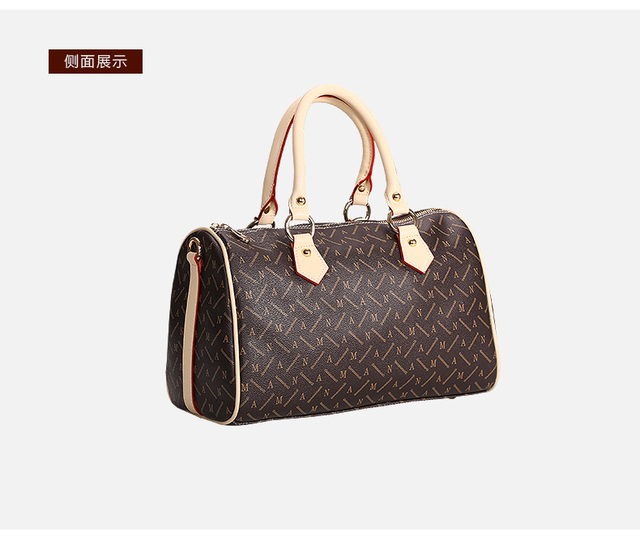 f2acf79df750 Free shipping Classic Women Shopping Bag Speedy Fashion Brand Canvas  Handbags Shoulder real leather Bagsa