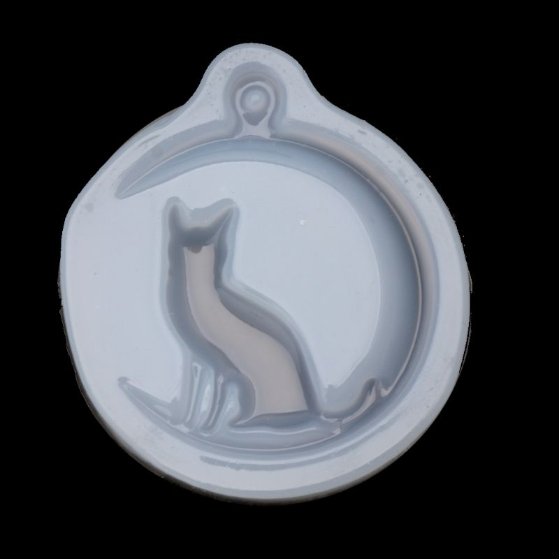 Cat Sit On Moon Charm Pendant Silicone Mold Jewelry Making Resin Casting MoldCat Sit On Moon Charm Pendant Silicone Mold Jewelry Making Resin Casting Mold