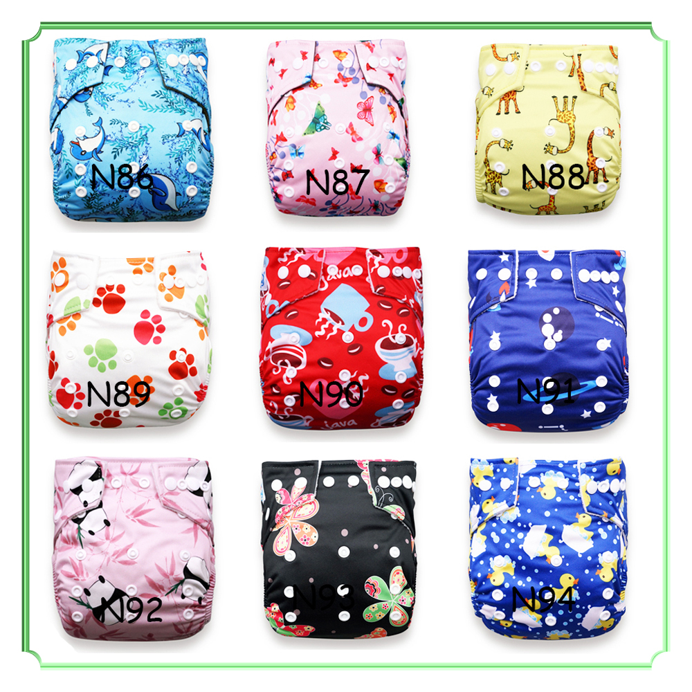 Babyland Ecological Diapers 10pcs Baby Cloth Diapers 10pcs Microfiber Inserts Absorbents Washable Diapers Reusabe Child Nappy