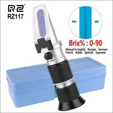 RZ рефрактометры рефрактометр 0-90% Brix RHB-90ATC ручной пивоваренный автоматический рефрактометр фруктовый соус метр сахар рефрактомер