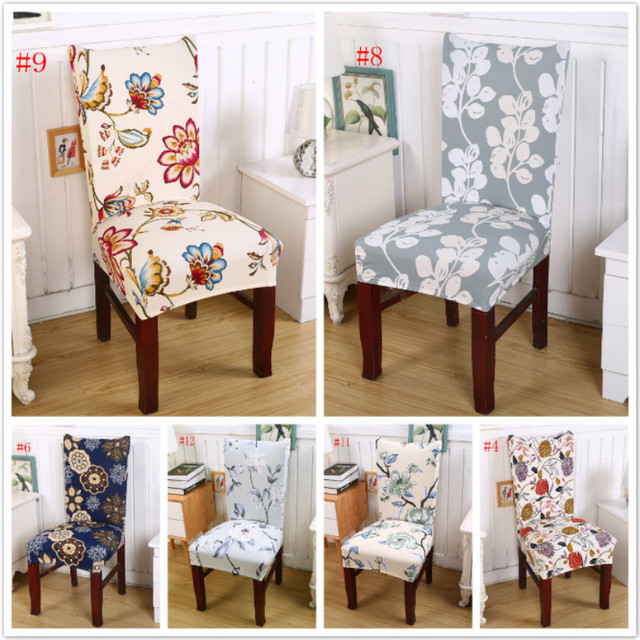 Merveilleux 1PC Printed Floral Chair Cover Fashion Pastoral Romantic Style Chair Cover  Removable Dining Seat Protector Slipcover