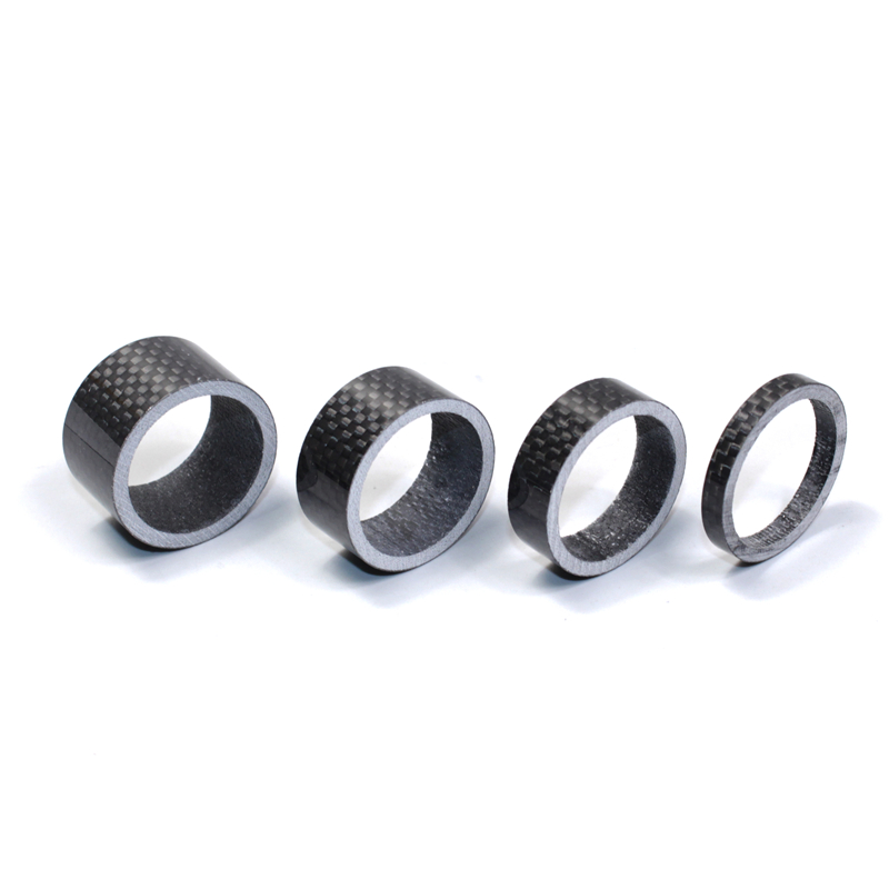 """1Set 1 1/8"""" Full Carbon Fibre Road bike Forks Spacer Headset MTB Bicycle Fork Washer 28.60mm 5mm 10mm 15mm 20mm cycling parts"""