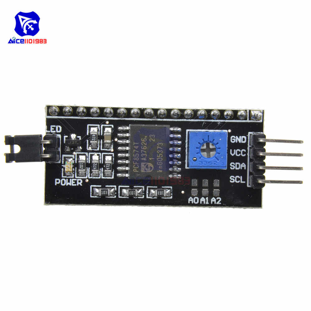 PCF8574T Arduino LCD 1602 LCD 2004 디스플레이 모듈 용 IIC I2C TWI SPI 직렬 인터페이스 보드 모듈 포트
