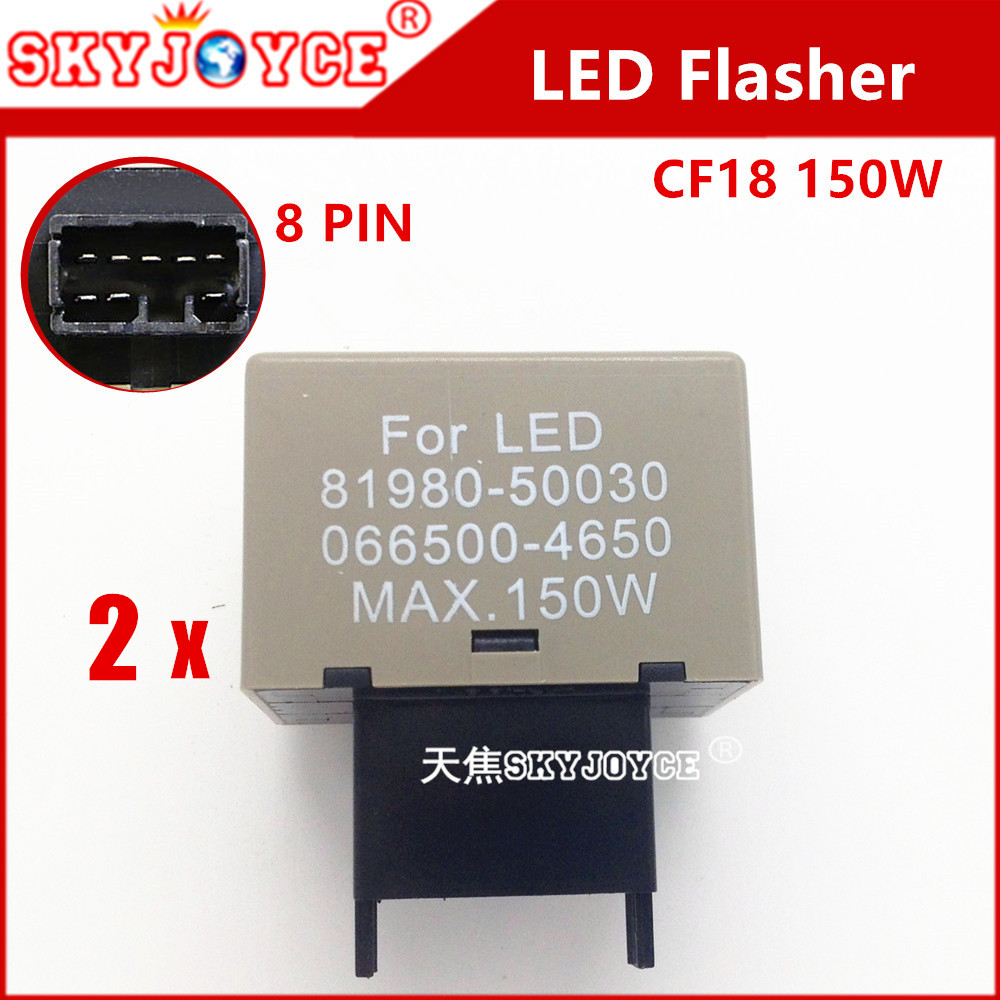 2 X led flasher Relay 8-Pin sequential led flasher controller module frequency adjustable flasher for led  turning signals imars™ 2 pin speed adjustable flasher relay dc 12v motorcycle led turn signal