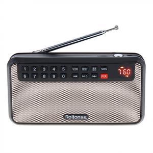 Image 2 - Rolton T60 المحمولة TF بطاقة USB صغير FM سماعات راديو صغيرة تعمل لاسلكيًا مع شاشة LED مضخم صوت مشغل موسيقى MP3/مصباح الشعلة/التحقق من المال