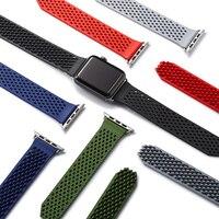 أحدث سيليكون المطاط ووتش باند watchbands ل أبل ووتش 1 2 3 حزام سوار المعصم iwatch