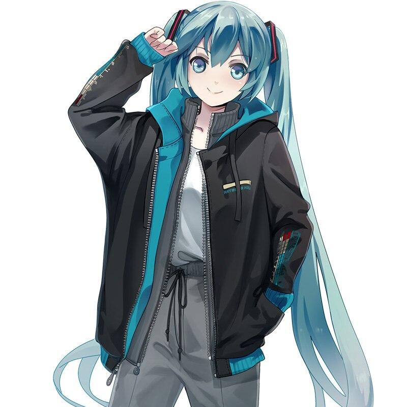 Nachtleuchtende Hoodies Anime Hatsune Miku Cosplay Nette Hochschule Süßen Street Fashion Langarm Mit Kapuze Sweatshirt-in Hoodies & Sweatshirts aus Herrenbekleidung bei  Gruppe 1