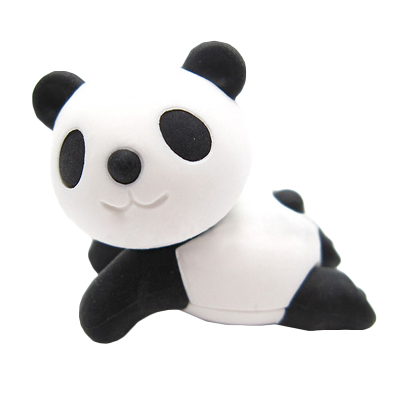 1 Pcs Cute Animal 3D Panda Rubber Eraser Kawaii Stationery School Supplies  Girl Gift For Kids Children's Toys
