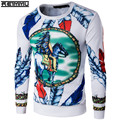2017 Famous Brand Long Sleeve Sweatshirts Men Cotton Slim Fit Pullovers Male 4XL 5XL Mens Brand-Clothing Plus Sizes Hot Sell