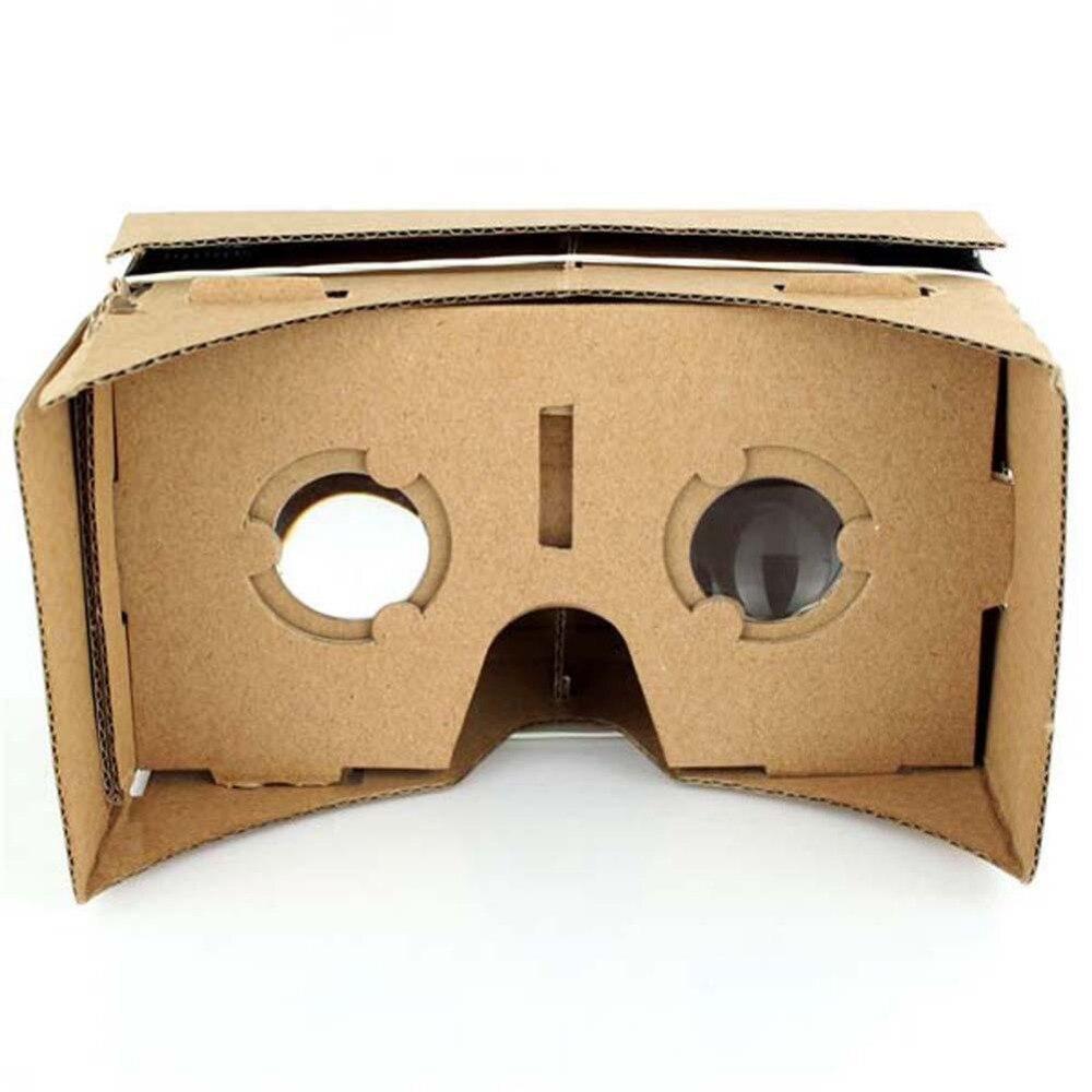Imán Brown Calidad vasos de papel cartón VR 3D Gafas de Realidad Virtual Adecuad