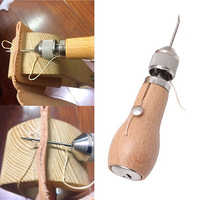 Herramienta de costura de cuero para coser a mano hilo encerado herramienta de coser de cuero DIY para costura de borde de cuero tiras de cinturón herramientas de Zapatero