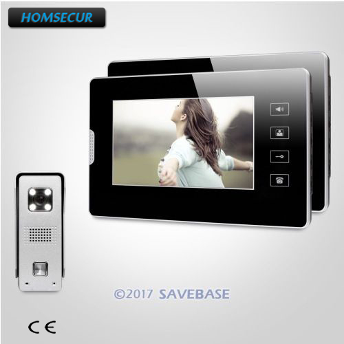 HOMSECUR 7inch Video Door Intercom System with Touch Panel Monitor for Home Security