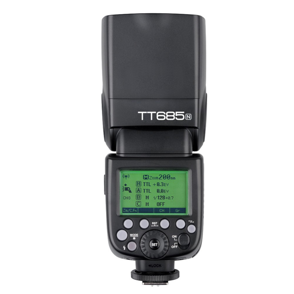 New Arrived Godox TT685/N Speedlite High-Speed Sync External TTL For Nikon Flash D80 D90 ...