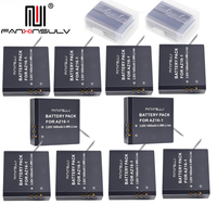 10 x AZ16 1 Battery AZ16 1 + 10x battery box For Xiaomi Yi 2 4K Battery Yi 4K+ Yi 360 VR Original Xiao Mi Yi Lite Action Cameras