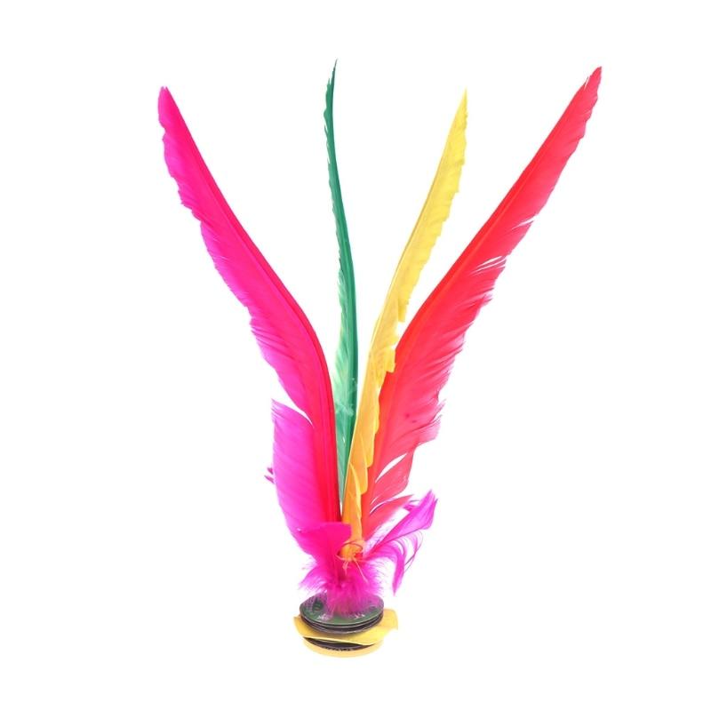 Китай Jianzi Footbal ноги кик маховик Необычные Волан из гусиных перьев фитнес - Цвет: 27cm