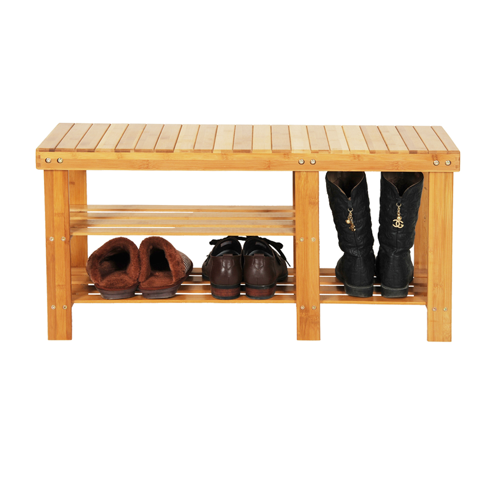 L90*W28*H45CM Solid Color Bamboo Stool Shoes Storage Stool Chair With Boots Compartment цены онлайн