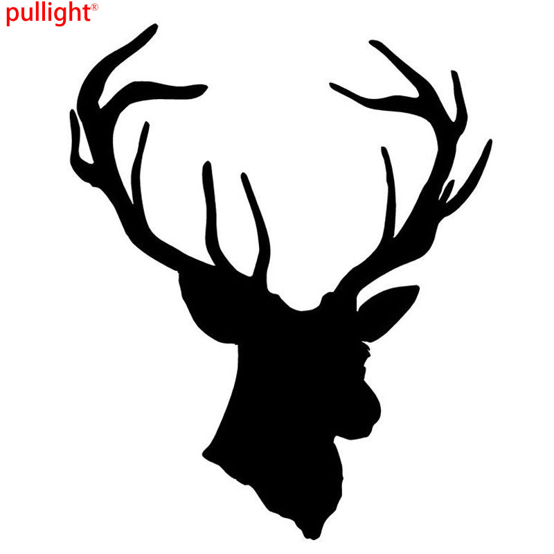 13.5*16.5CM Fashion Cool Deer Head Vinyl Car Styling Creative Hunting Car Sticker And Decals ...