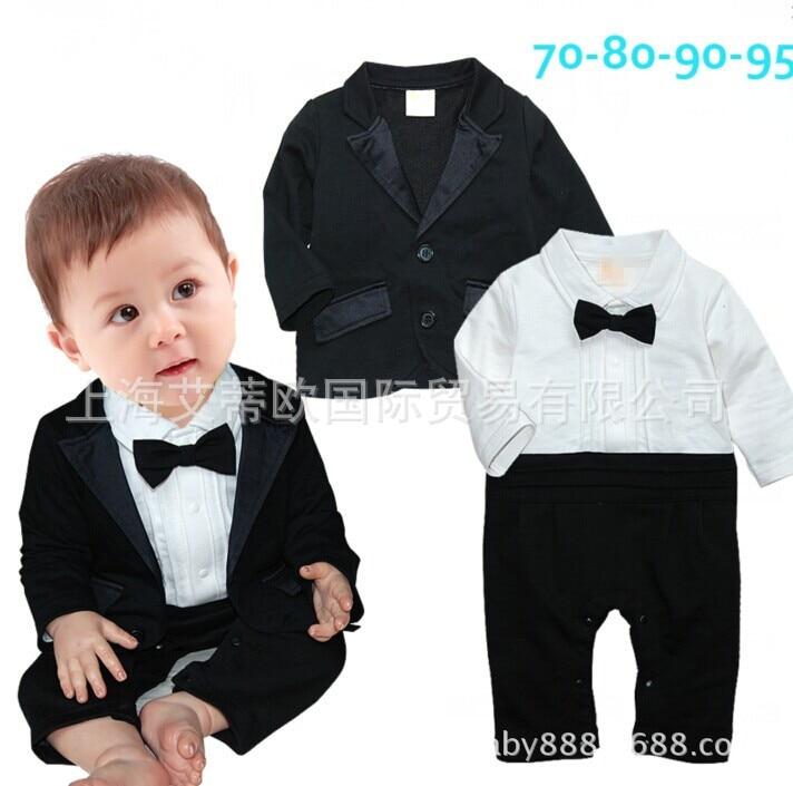 WENDYWU 2017 The fall male baby gentleman skirt long sleeved suit baby romper suit jacket + infants gentleman in the parlour