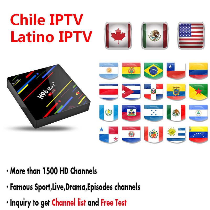 Chile IPTV Latino IPTV Subscription Argentine Mexico Ecuador Colombia USA  Canada Spain Portuguese Brazil M3U For Android TV BOX