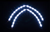 SANVI LED Day Running Light 5 6W 12V Car LED Tear Eye Auto Light DIY LED